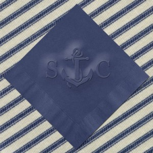Vintage Anchor Nautical Wedding Napkins(WRT670/WRT671)