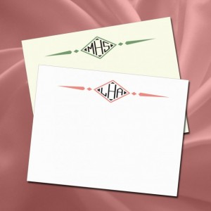 Diamond Monogram Watchband Notecards - Personal Stationery Set of 20 (WRT762)