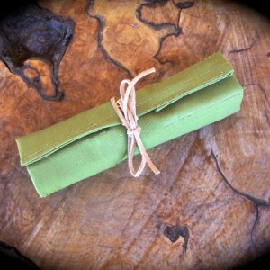 Extra Small Wasabi Canvas Tool Roll