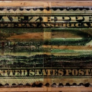'1930 U.S. Zeppelin Postage Stamp' Dining Table