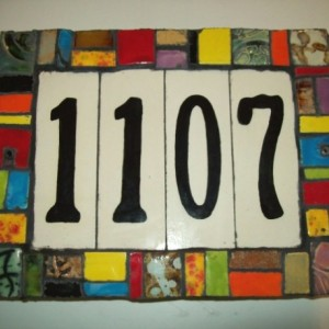 Handmade Ceramic House Number Tile