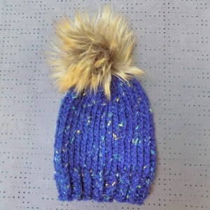 Baby & Toddler Knit Hat w/ Faux Fur Pom Pom