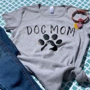 Dog Mom with Dog on Shirt