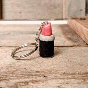 Lipstick Keychain • Lipstick Charm • Lipstick Lover Gift • Makeup Lover Gift • Lip Gloss Charm • Cute Girly Gift • Fun Gift For Friend