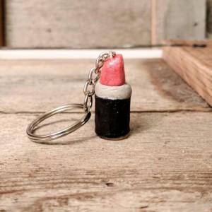 Lipstick Keychain • Lipstick Charm • Lipstick Lover Gift • Makeup Lover Gift • Lip Gloss Charm • Cute Girly Gift • Fun Gift For Friend