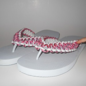 Paracord Flip Flops, custom flip flops, custom color flip flops, customized flip flops