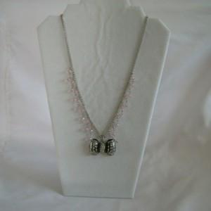 Rhinestone  Bow Pendant Necklace