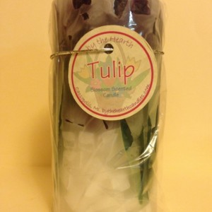 Purple Tulip Pillar Candle
