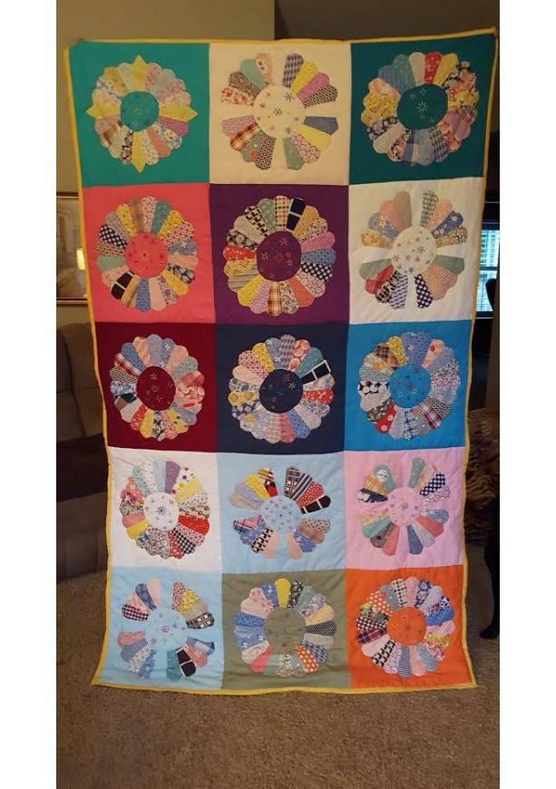 Dresden Pattern handmade Quilt