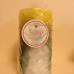 Yellow Tulip Pillar Candle
