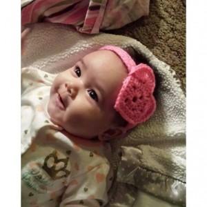 Pink heart valentine headband
