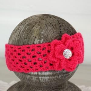 Newborn - 12 month Baby Girl Rose Pink Headbands ~ Set of Two ~