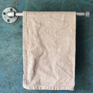 Paper Towel Holder -- Wall or Cabinet Under Mount -- Industrial, Farmhouse Kitchen, Iron Pipe Storage