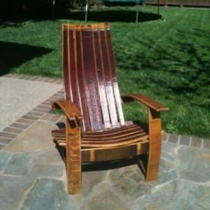 Wine Barrel Adirondack Chair