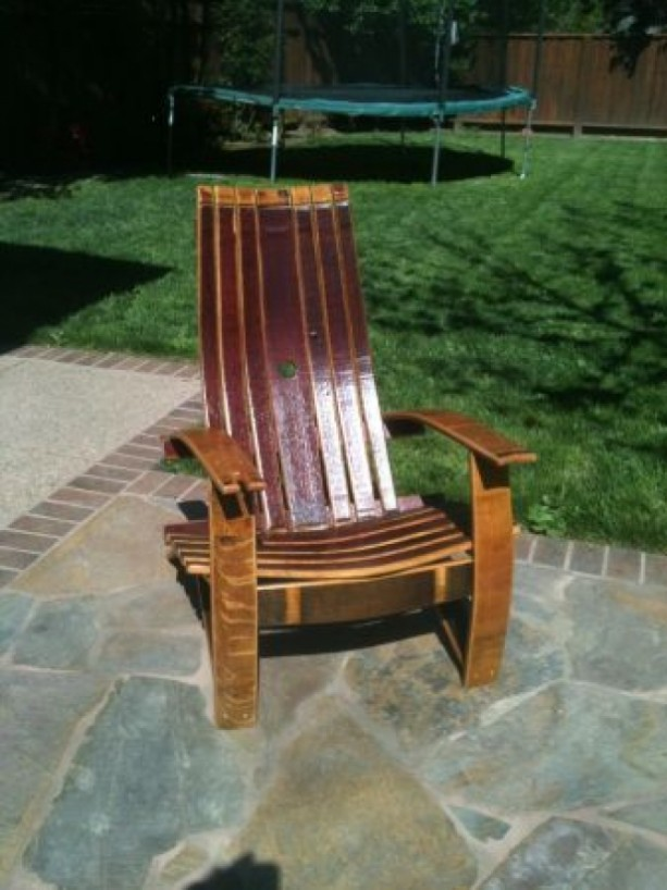 Wine Barrel Adirondack Chair Aftcra