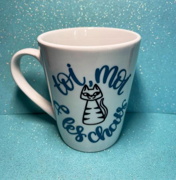You, Me, And The Cats Mug