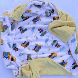 Noah's Ark Baby Blanket - Chevron Blanket - Baby Blanket - Minky Baby Blanket