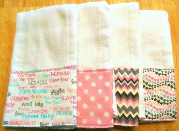 Burp Cloths for Girl, Baby Gift, Baby Shower Gift, Feeding Burp Cloths, Burp Rags, Spit Rags, Baby Girl Gift
