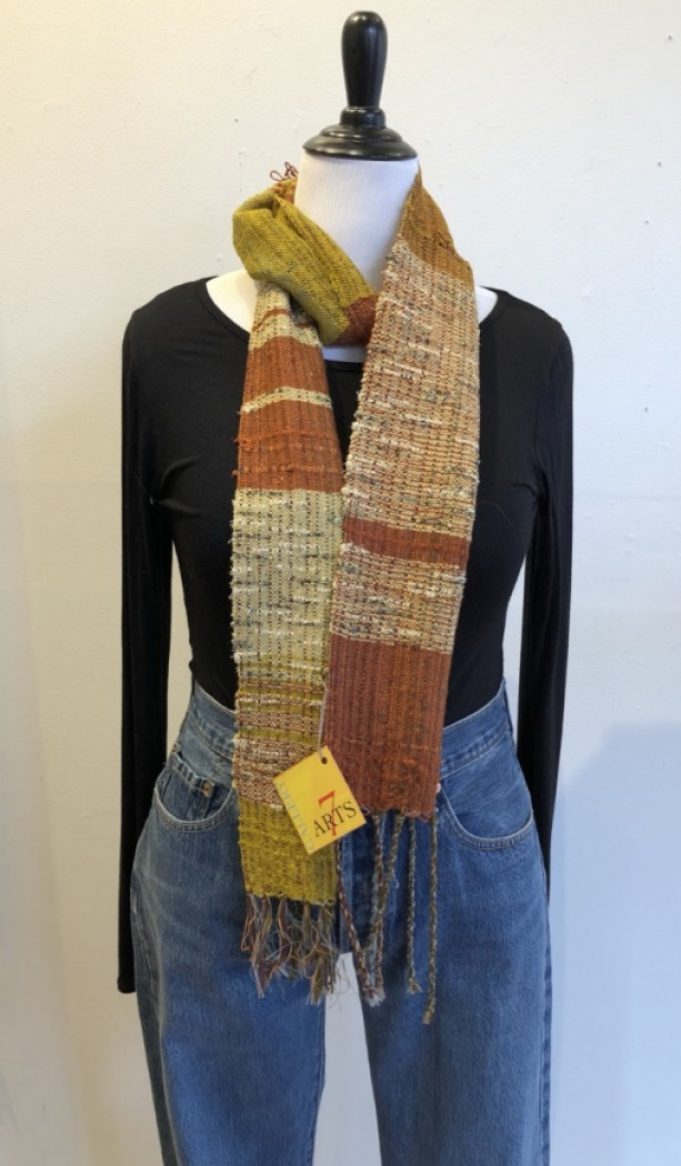 Handwoven Cotton and Bamboo Scarf