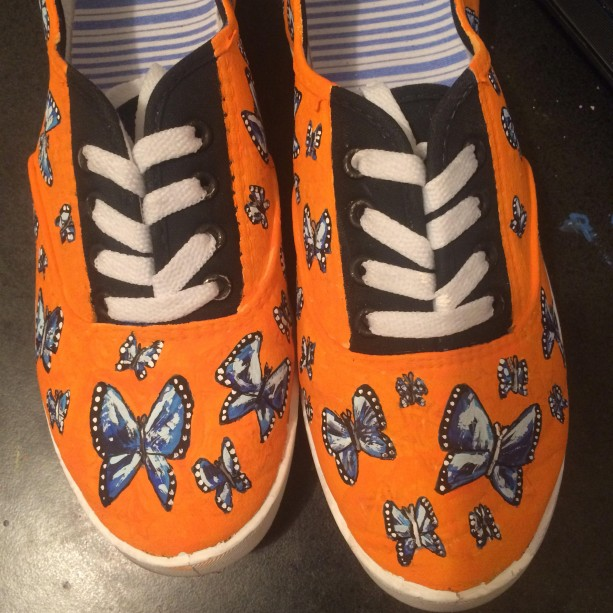 Blue Butterfly Shoes