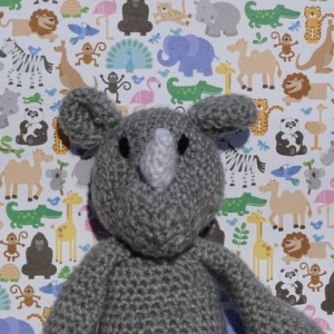 Crochet Rhino, Crochet Toy, Amigurumi Toy Rhino, Safari Toy, Stuffed Rhino, Kids Toy, Crocheted Toy, Rhino, All Handmade, Ready to Ship