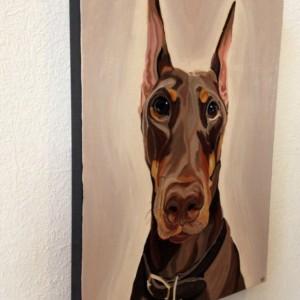 """Twist - Custom Pet Portrait 18"""" x 24"""" x 1.5"""""""