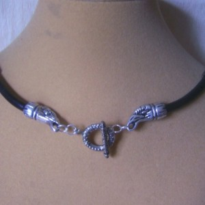 Crixus Champion Necklace Spartacus Harbinger of Death Crow Head