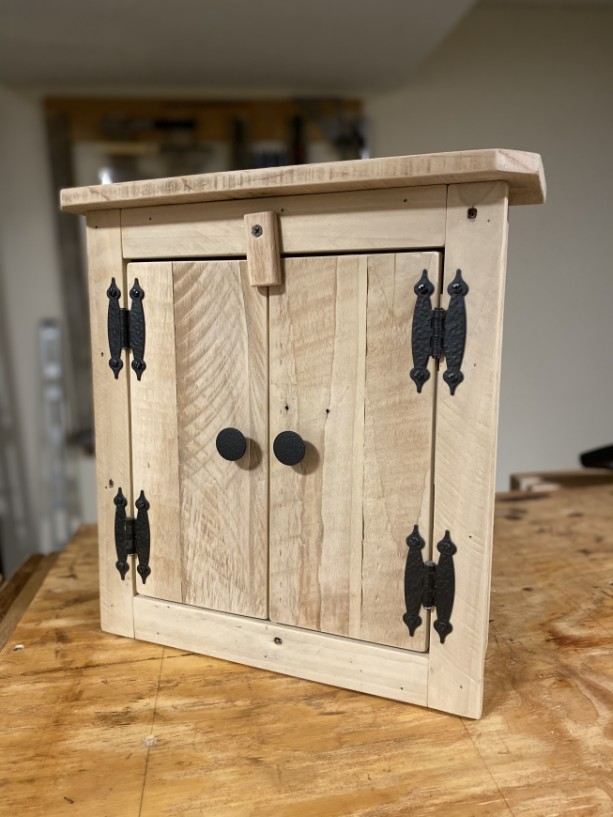 Handcrafted Rustic Essential Oil Cabinet