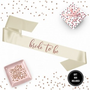 1 piece bride to be script sash luxurious satin rose gold glitter for bachelorette party gift prop wedding shower