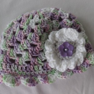 Newborn Girl Summer Sun hat with flower