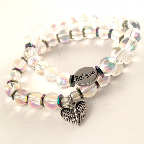 Angel crystal bracelets