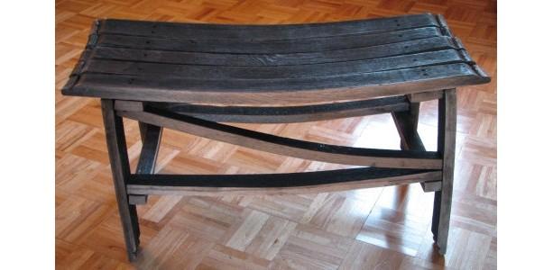 ... Kentucky Bourbon Barrel Stave Bench ...