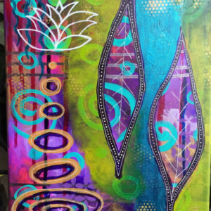 Mixed Media Abstract Intuitive Canvas Painting