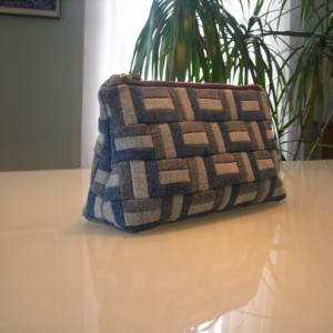 Denim Clutch, Denim Bag, Travel Bag, Accessory Bag, Cosmetic Bag, Storage Bag