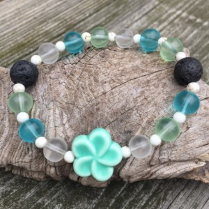 Flower Arometherapy Essential Oil Diffuser Bracelet