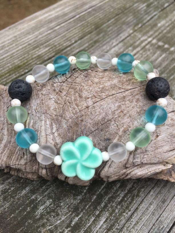 Flower Arometherapy Essential Oil Diffuser Bracelet