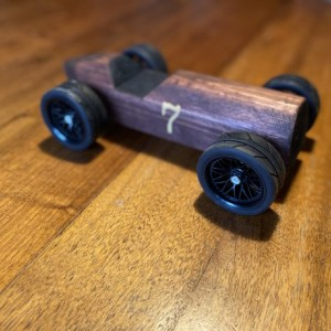 Handcrafted Wood Push Car - 1930's Racecar