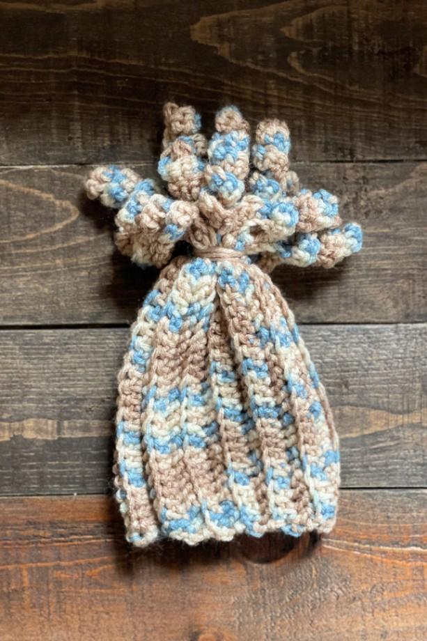 Handmade (crochet) baby winter beanie