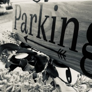 "Wedding Sign ""parking"""