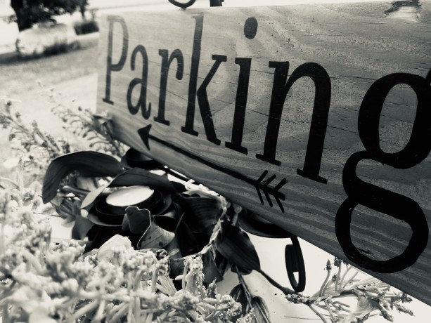 "Wedding Sign ""parking"""