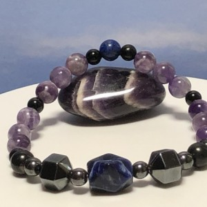 Mens Overworked - Overstressed - Overwhelmed Holistic Bracelet  |  Anxiety  |  Stress  |  Temper  |  Insomnia  |  Tension