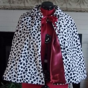 Cruella DeVille, Costume Cape,Fully Lined Faux Fur Capes,Bridal Cover Up