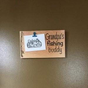 Grandpa's Fishing Buddy Wall Mounted Picture Holder