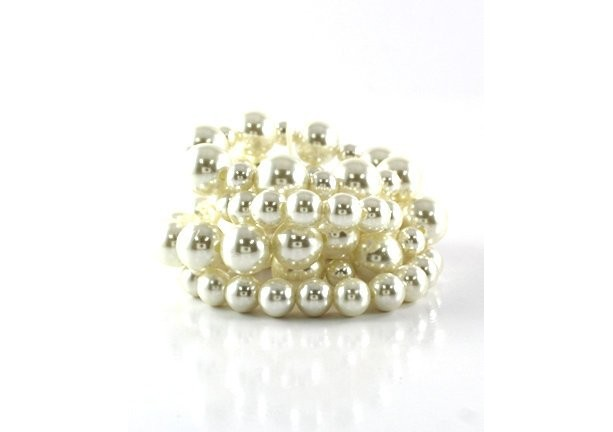 Quality White Color Pearl Stretch Bracelet