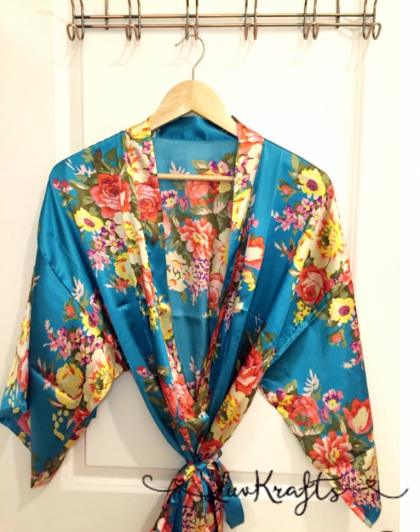 Maternity Robe Floral Satin Robe Delivery Robe Labor Gown Hos