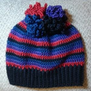 Messy Bun/Ponytail Hat w/ Tie