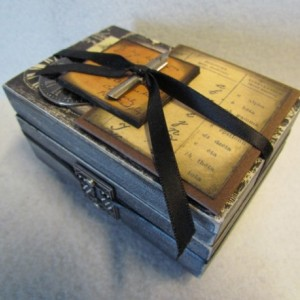 The Elegance of Cursive Writing Trinket Box