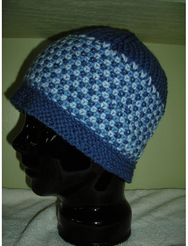 Women's  Multi-Colored Periwinkle Hand Knitted  Hat