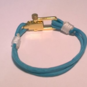 Turquoise paracord nautical bracelet