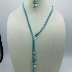 """30"""" Lariat Necklace and Earrings Set"""